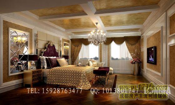 满庭芳别墅 欧式风格 龙发装饰案例作品 成都别墅装修