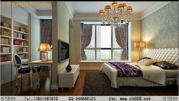 客厅欧式石材山水造型电视墙