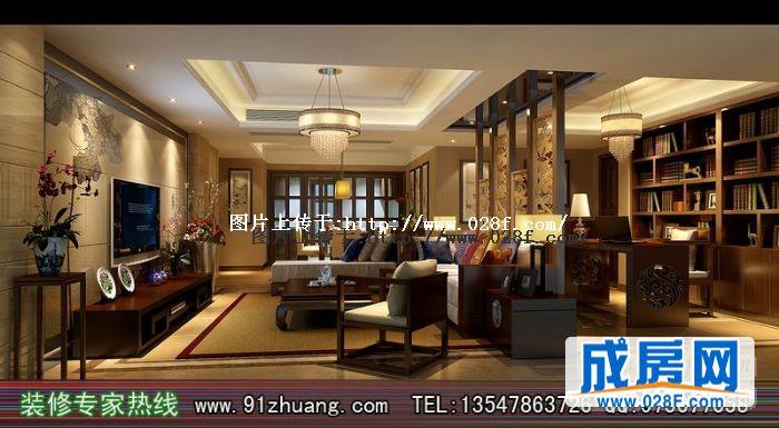 戛纳滨江现代中式风格装修图片