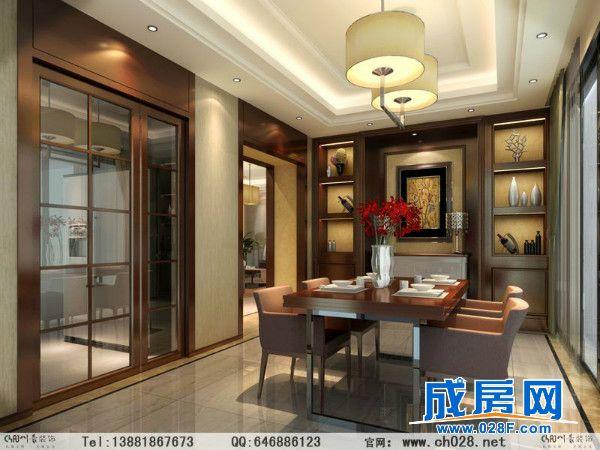中式风,三居室的结构,在平面布局上将原结构做了些许