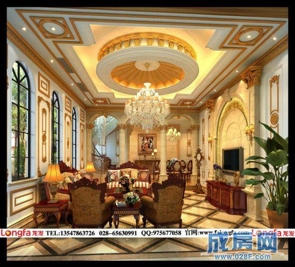 豪华别墅装修,雅居乐峰南宫庭别墅装修设计