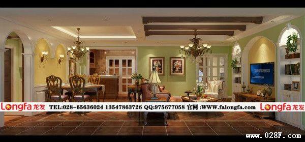 華潤鳳凰城裝修,鳳凰城美式鄉村裝修圖片,鳳凰城裝修效果圖,華潤鳳凰城裝修首選成都龍發裝飾。華潤鳳凰城美式鄉村裝修案例。本案的業主是廣告方面的工作,對色彩非常敏感。希望自己的家里色彩搭配沖擊力強些。臥室以淺藍色乳膠漆與白色木作護墻板相結合,讓臥室很清爽并溫馨。客餐廳以淺綠色與鵝黃色的乳膠漆,搭配美式風格的家具。讓整個空間更加清爽。書房以實用性為主,看看書籍、喝喝茶、彈彈鋼琴等等是一個多功能的房間,衛生間業主是花了心思的,全是采用防古磚輔貼的方式,下面看看成都最好的裝修公司推薦的美式鄉村裝修案例。TEL:13