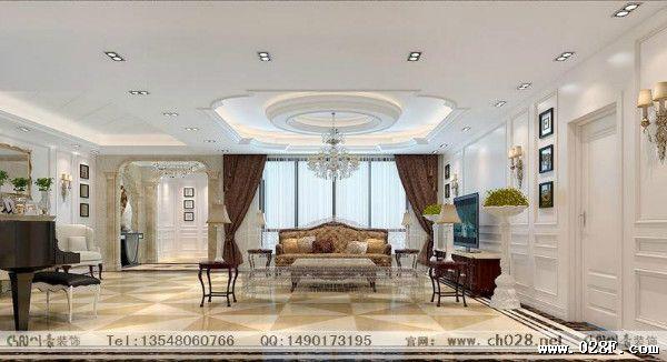 长方形客厅欧式装修