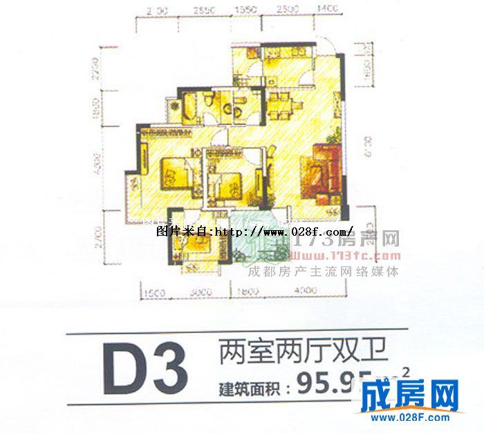 开间小的房屋设计图  农村一层房屋设计图15米x12米建筑面积110平米单