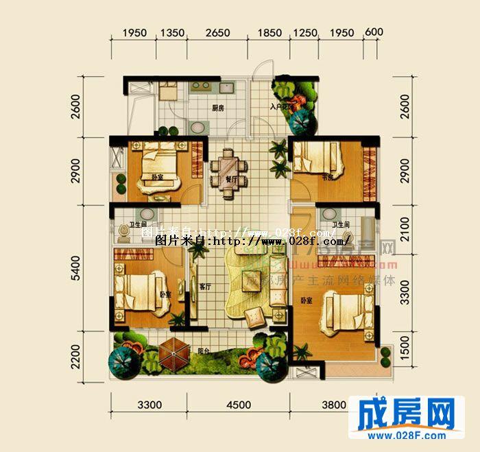 置信逸都花园 户型图展示 成都新房 成都房产主流网络媒体 成房网